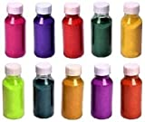 Rangoli Powder Colors Bottles 80g with Nozzle Each Design Creativity Diwali Floor Rangoli Art Ceramic Colours Rangoli Color Powder Rang for Navratri Pongal Pooja Mandir