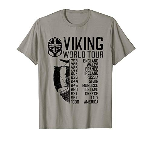 Viking World Tour | Wikinger Welttournee | Mythologie T-Shirt