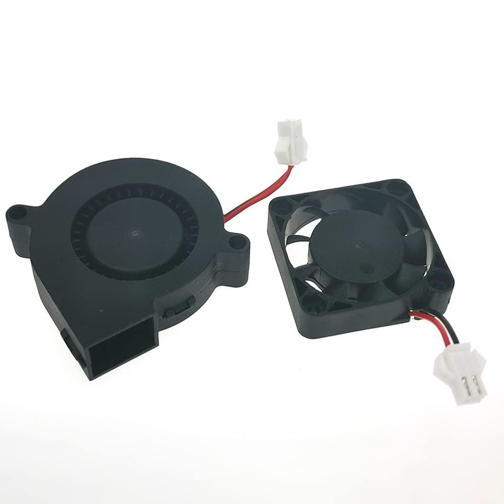 HUAFAST HS-Mini S 3D Printer Accessories Cooling Fan Blower DC 24V 40x40x10mm Square Fan 4010 and 50x50x15mm Turbo Fan 5015 Totally 2 PCS