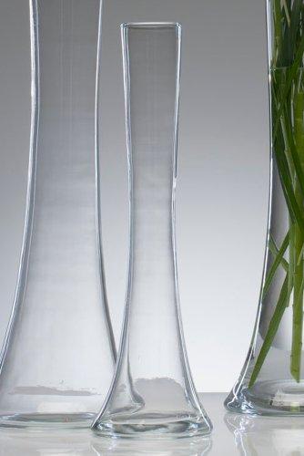 """Glasvase \""""Big Solifleur X\"""" Vase Glas Blumenvase Tischvase Bodenvase, hot cut 40 cm"""