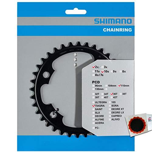 SHIMANO Kettenblätter TIAGRA FC-4700 36 Zähne 110mm Aluminium Fahrrad
