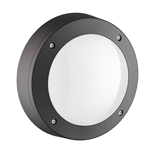 ledscom.de Luminaire Rond Tabit pour l'extérieur, Aluminium, Noir, avec GX53 LED Ampoule, Blanche, 11,5W, 830lm