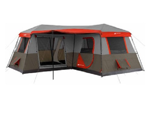 Ozark Trail 16x16-Feet 12-Person 3 Room Instant Cabin Tent with Pre-Attached Poles