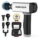 SUNBA YOUTH Carrying Case Massage Gun,Rechargeable Cordless Percussion...