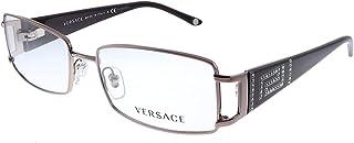 Versace VE 1163B 1333 Pink Gold Metal Rectangle Eyeglasses 52mm