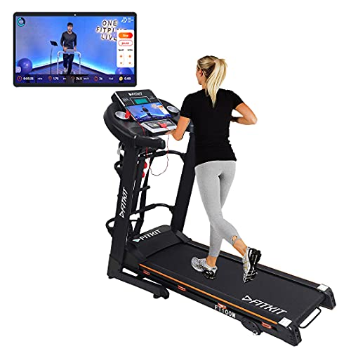 Fitkit FT100M 1.75HP (3.25HP Peak) Motorized Treadmill With Free Installation and Free Diet & Fitness Plan