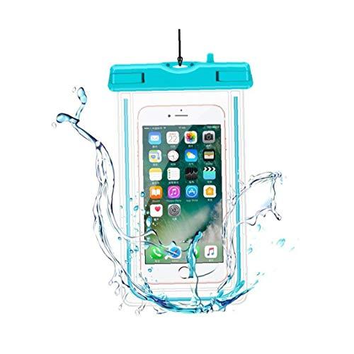 Caso universal del teléfono portátil a prueba de agua 3 del teléfono celular del color del bolso seco flotante de teléfono de la bolsa multi función de pantalla táctil transparente Móviles 3pcs Bolsa