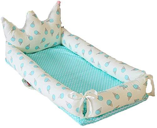 YYhkeby Cuna plegable portátil de algodón de doble capa, colchón biónico multifuncional para bebé recién nacido, cama Nido Detac. Jialele (tamaño: C)
