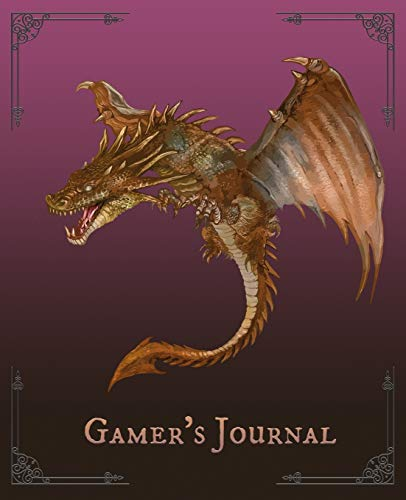Gamer's Journal: RPG Role Playing Game Notebook - Hand Drawn Dragon (Gamers series) (Dungeon Master Companion, Band 1)