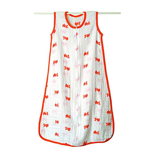 TUWEN Baby Schlafsack 100% Baumwolle Anti-Kick verdickte Jungen und Mädchen Baby schläft ist Bag