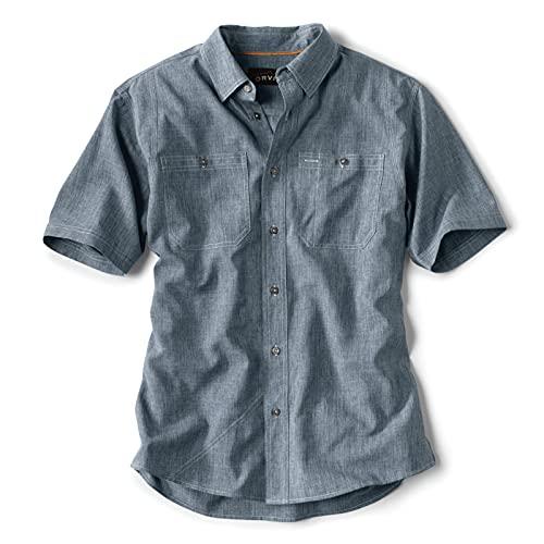 Orvis Men's Tech Chambray Short-Sleeved Work Shirt