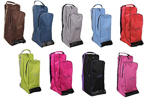 netproshop Wasserabweisende Stiefel- und Helmtasche ca. 60 x 40 x 22 cm für den Reitsport, Farbe:Hellblau