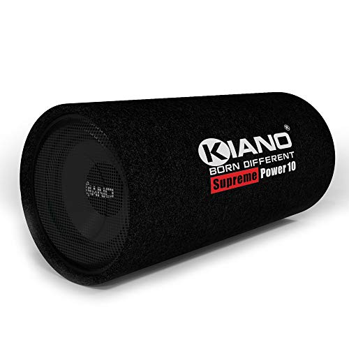 Kiano Supreme Power 10 Inch Active Bass Tube Enclosed Subwoofer with Amp