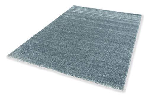Schöner Wohnen Kollektion pflegeleichter Wohnzimmer Teppich Pure — antistatischer Flur Teppich — Kurzflor Teppich — (160x230cm, türkis)