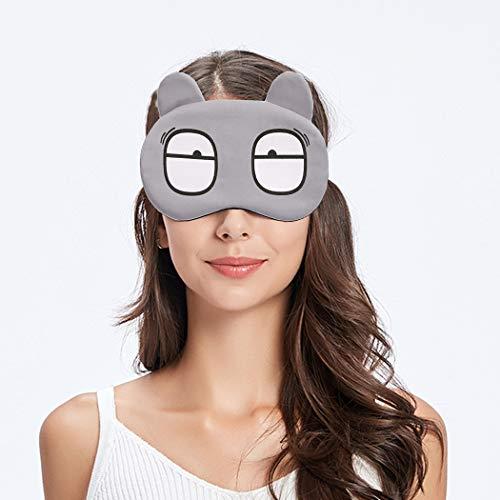 Justdolife Slaapmasker, schaduw met schattige ogen en tekeningen, met ijspakket voor thuis