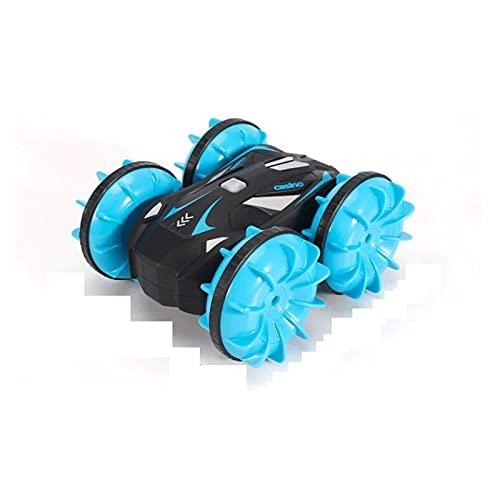 FYRMMD Telecomando Anfibio a Quattro Ruote motrici 2.4G Auto acrobatica Giocattolo per Bambini Impermeabile Fuoristrada Dri a Doppia Faccia (Auto telecomandata)