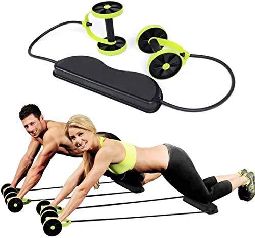 YJF Bauchtrainer Doppel AB Roller Rad Fitness Abdominal Roller AB Roller Fitnessgeräte Multifunktionale Home Ausstattung Energie Rollen Workout