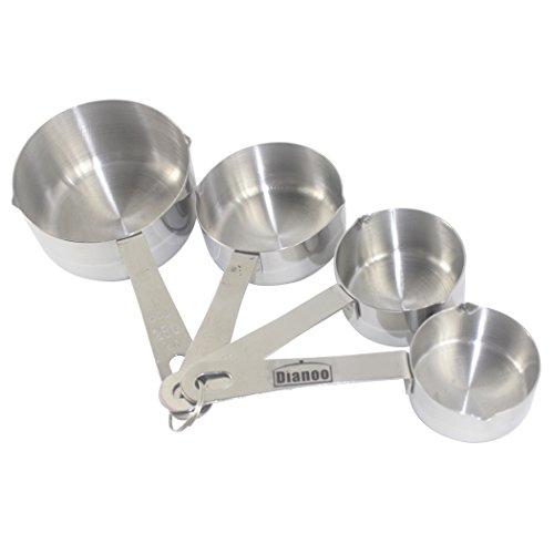 Dianoo 4PCS taza de medir, de lujo acero inoxidable medición vaso conjunto,...