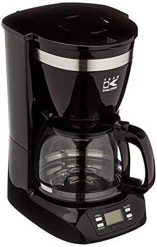 Team Kalorik TKG CM 1019 BT ekspres do kawy z 24-godzinnym timerem i szklanym dzbankiem, 800, 1,25 litra, czarny