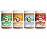 Wild Friends Foods Natural Seasonal Peanut Butter Variety Pack, Gluten Free, Palm Oil Free, 4 Count