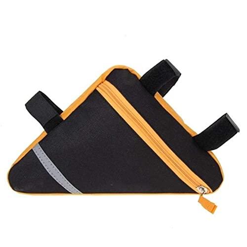 Tiop Bolsa para bicicleta MTB de carretera, bolsa para sillín de bicicleta, de nailon, impermeable, triángulo, para montar en bicicleta