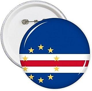 DIYthinker Cap-Vert Drapeau national Afrique Symbole Pays Motif Mark ronde Pin Badge Bouton 5Pcs S