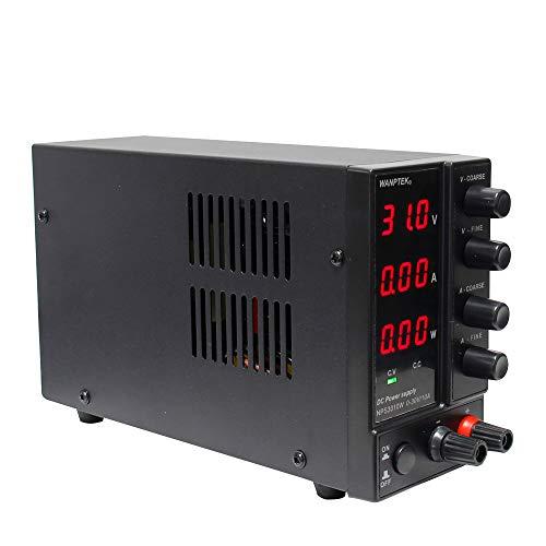 Wisamic NPS3010W Labornetzgerät Variable 0-30V 0-10A 300W DC Netzgerät Stabilisiert LED Digitalanzeige Labornetzteil Netzteil Regelbar AC 115V/230V 50/60H Spannung & Strom Doppelausgang