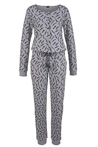 Lascana Jumpsuit Cozy World, grau, 44-46