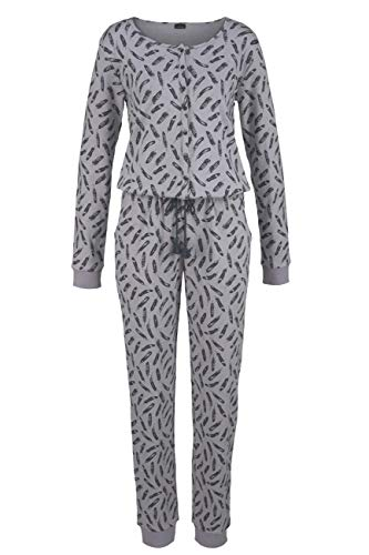 Lascana Jumpsuit Cozy World, grau, 40-42