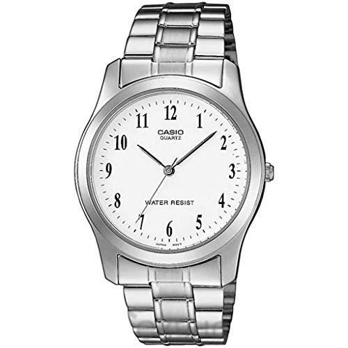 Casio Herren Analog Quarz Uhr mit Stainless Steel Armband MTP-1128PA-7BEF