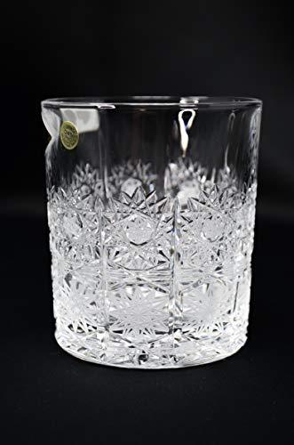 Crystal Glass Whiskey glasses set of 6, Cognac Brandy Vodka Bourbon Scotch Water set, Hand Cut 10oz/320ml Tumbler, Elegant lace design, Whiskey Glasses, Bohemian Czech Crystal glass