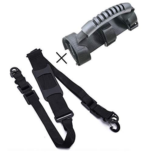 ZONSUSE Scooter-Tragegurt Verstellbarer, Scooter-Schultergurt,Hirse Mijia M365 Handschlaufe Geeignet für Kinderfahrrad, Klappstuhl, Roller Tragen, Schwarz