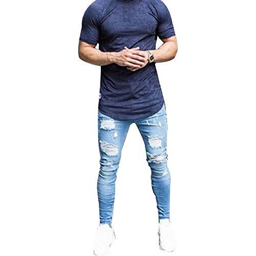 U/A Denim Jeans Uomo Business Skinny Strappato Jeans Biker Pantaloni Casual Stretch Matita Pantaloni Pantaloni S4 XXL