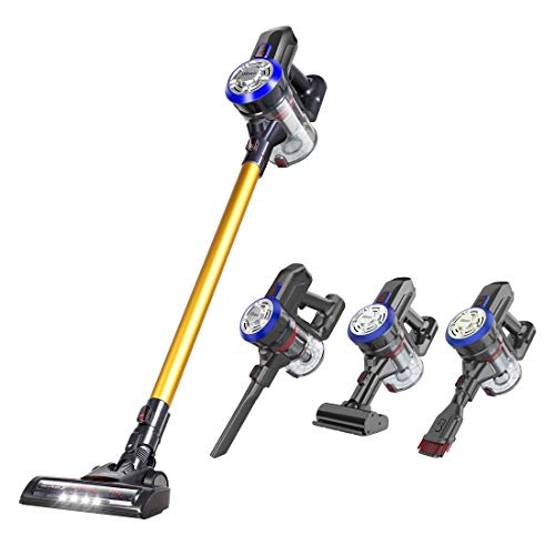Dibea Cordless Stick Vacuum Cleaner 15Kpa Suction Rechargeable Lightweight 2 in 1 Handheld Car Vacuum with Mini Motorized Brush for Hard Floor, Carpet