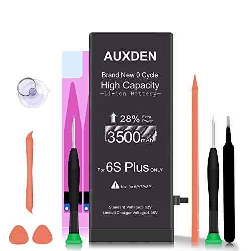 AUXDEN 3500mAh Batería Compatible para iPhone 6S Plus de Alta Capacidad 0 Ciclo con Kits de Herramientas de reparación, Cinta Adhesiva