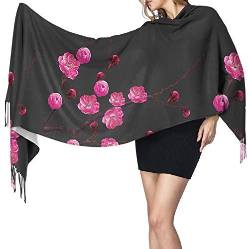 Garlincao Plum Blossom Soft Cashmere - Bufandas ligeras para mujer, chales y chales grandes