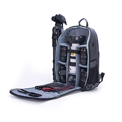 Bolsa De Camaraen Bolsa De CáMara Plegable Al Aire Libre Anti-Robo Bolsa De CáMara Digital A Prueba De Agua Mochila Ordenador De Moda(Negro Con Gris, Gris Con Gris, Gris Con Rojo)gray with gray