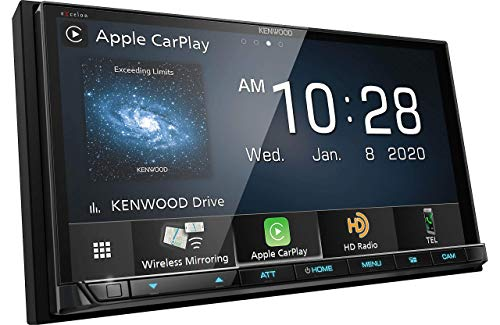 Kenwood DMX907S 6.95' Capacitive Touch Panel Digital multimedia receiver with Bluetooth & HD Radio (does not play CDs) | With Apple CarPlay and Android Auto (Renewed)