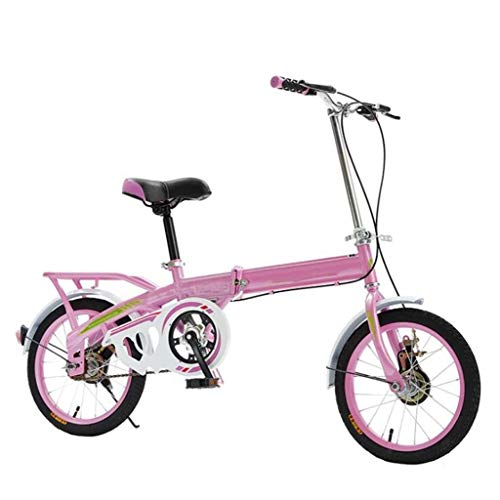 JBHURF Bicycles, Folding Bicycles, Portable Light Bicycles, Variable Speed Shock Absorber Student Bicycles, Suitable for Mountain Roads and rain and Snow Roads. This Bicycle is Foldable 16inch