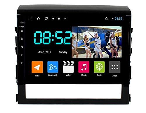 Compatible con Toyota Land Cruiser 2016-2019 Android 9.0 Radio estéreo para automóvil Navegación por satélite de Doble DIN Navegación GPS Reproductor Multimedia con Pantalla táctil de 9 Pulgadas RECE
