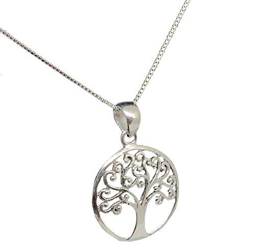 (925 Sterling Silver Necklace (Heavy)) - Mirabella BellaMira TREE LIFE - Sterling Silver 925 Silver Plated - Necklace Earrings Jewellery Set (as chosen) Gift Boxed