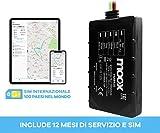MOOX Localizzatore GPS tracker FMB920 con 12 MESI di traffico SIM in oltre 100 paesi nel m...