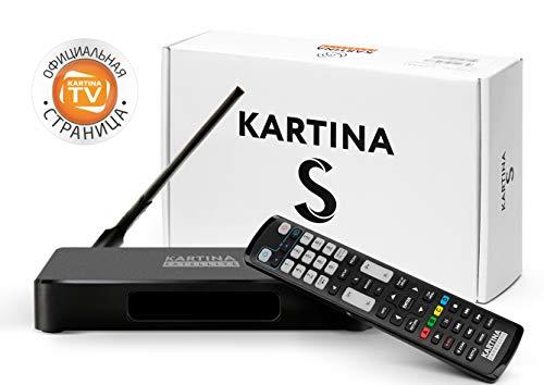 Kartina S + 14 Tage Kartina.TV gratis! IPTV + Satelliten Sat Receiver Russisches Fernsehen! Unterstützt 4K 2160p HEVC H.265, WiFi 2.4G/5G/USB, Micro SD, Android TV. Offizieler Shop von Kartina.TV!…