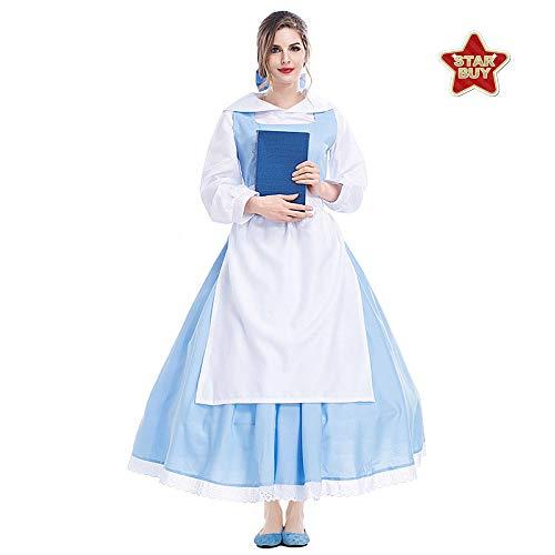 COSOER Disfraz De Cosplay del Rey De La Bella Y La Bestia Ropa De Personaje De Película Carnaval De Halloween Ropa De Pareja,Princess2-S