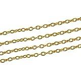 10 m croce collana/catena drachensilber, oval, dorati, 5 x 3 mm