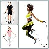Cordes a Sauter Sport, Jump Skipping Rope réglable de vitesse Rluobo Longueur 3M, Corde à Sauter avec Poignées Antidérapantes, Corde à Sauter Idéale pour le Fitness et l entraînement, Bleu
