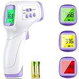 Berührungsloses Stirnthermometer, digitales Infrarot-Thermometer für Babys, Kinder, Erwachsene, professionelles Thermometer mit präziser und schneller Messung, großes LCD-Display und Fieberalarm