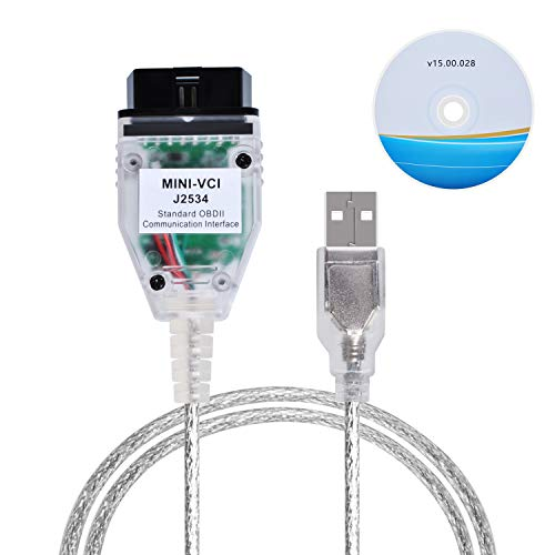 Mini VCI J2534 Cable,OBD2 Cable Connector Scanner...