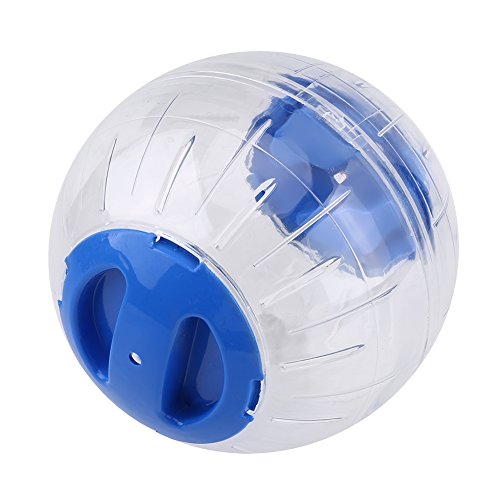 Zerodis Hamster Gymnastikball Kleine Haustier Miniball Rennmaus Lauf Spielzeug Kunststoff 12cm(Blau)