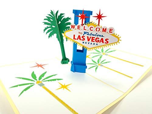 Color Las Vegas USA 3D Pop-Up-Grußkarten Jahrestag Baby Geburtstag Ostern Halloween Mutter Vatertag Neujahr Neujahr Erntedankfest Valentinstag Hochzeit Weihnachten
